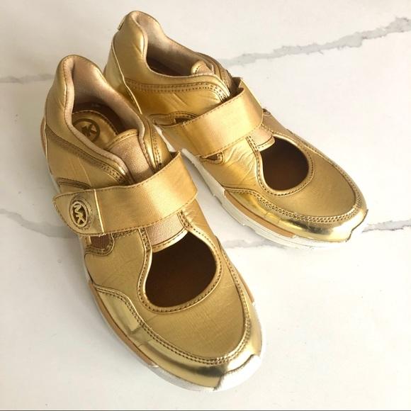 Michael Kors Shoes | Mk Gold Sneakers